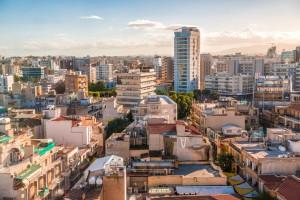 Nicosie : Vue aérienne de la ville de Nicosie