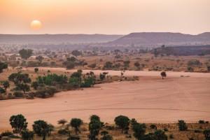 Niger : Coucher de soleil sur le Sahel