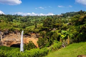 Ouganda : Les chutes de Sipi dans le parc national Mount Elgon