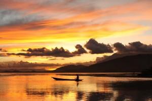 Papouasie indonésienne : sunset