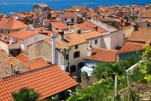 Piran : Slovénie - Vue sur les toits de Piran