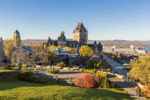 Québec : Château de Frontenac dans la vieille ville de Québec