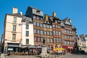 Rennes (Ille-et-Vilaine) : Maisons à colombages dans le centre historique de Rennes