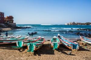 Sénégal : Bateaux de pêche à Ngor