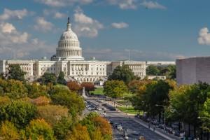 Washington D.C. : Capitol des États Unis et Pennsylvania Avenue à Washington