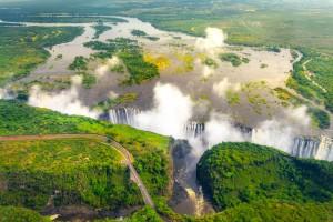 Zimbabwe : Chutes Victoria au Zimbabwe