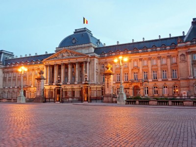 Belgique : Belgium-6617 - Twilight at the Palace