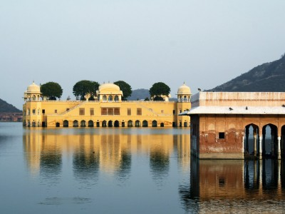 Rajasthan : Palace sunk in the lake, Jal Mahal, Jaipur, Rajasthan, India