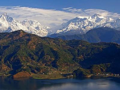 Népal : The Anapurna range (Pokhara, Nepal)