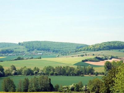 Picardie : Paysage  a la frontiere entre Normandie et Picardie