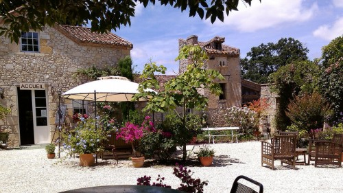 Auch (Gers) : A relaxing afternoon at les Jardin de Coursiana, North of Auch, Gers, France.