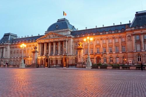 Belgique : Belgium-6617 - Twilight at the Palace