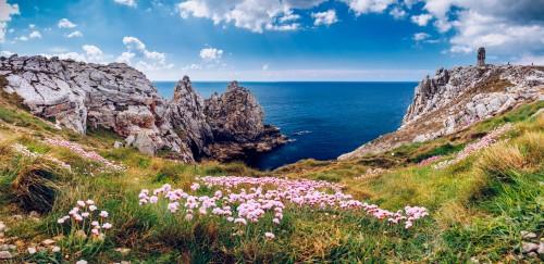 Bretagne : Pointe du Pen-Hir sur la presqu'île de Crozon, Finistère