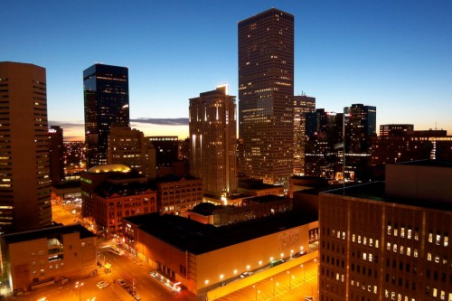 Denver (Colorado) : Sunrise Over Denver, Colorado