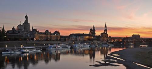 Dresde : Germany - Dresden - sunset