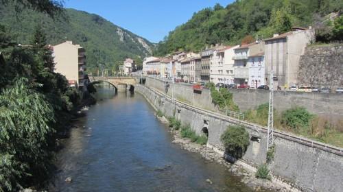 Foix (Ariège) : River at Foix