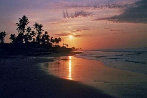 Ghana : Ghana beach sunrise