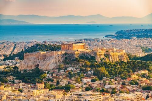 Grèce : Vue aérienne sur Athènes, Grèce