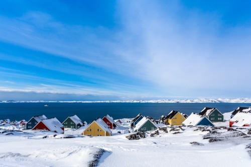 Groenland : Fjord de la ville de Nuuk, Groenland