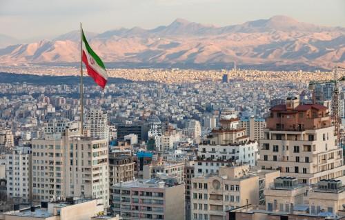 Iran : Vue aérienne sur Téhéran