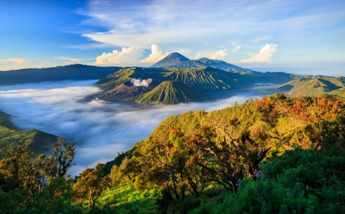 Java : Volcan Mont Bromo, Java Oriental, Surabuya