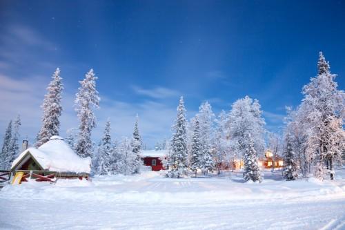Laponie : Paysage d'hiver à Kiruna