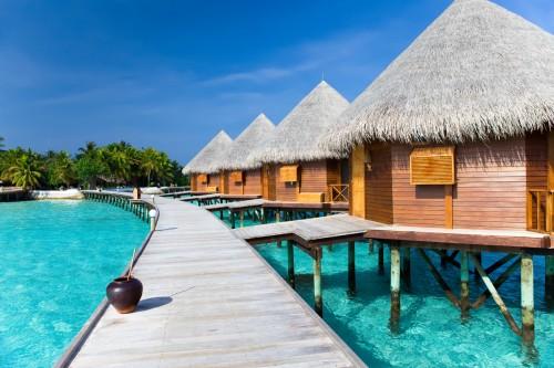 Maldives : Bungalows sur le lagon aux Maldives