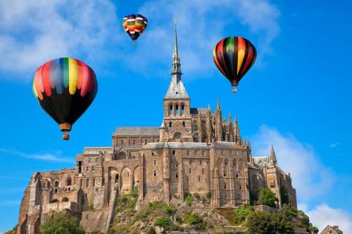 Mont Saint-Michel : Hot Air Balloons - Mont Saint-Michel