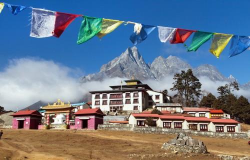 Népal : Monastère de Tengboche, vallée de Khumbu