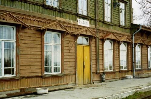 Paldiski : Paldiski, Estonia Railway station detail.  May 1996