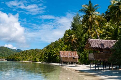 Papouasie-Nouvelle-Guinée : White Sand beach à Raja Ampat