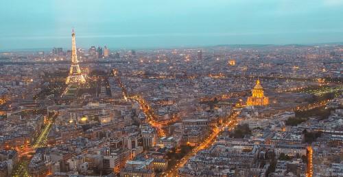 Paris : Paris skyline, France