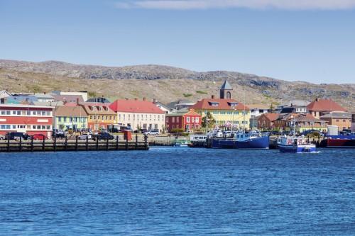 Saint-Pierre-et-Miquelon : Saint Pierre depuis la mer