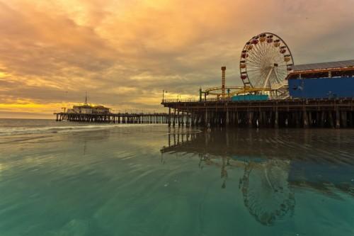 Santa Monica : santa monica pier ferris wheel