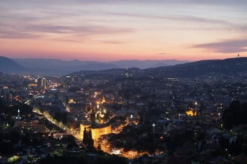 Sarajevo : Sarajevo at night