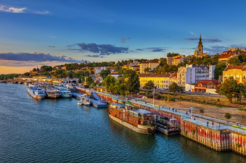 Serbie : Le port de Belgrade