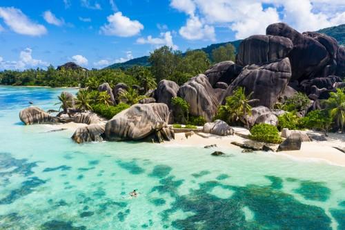 Seychelles : Plage à la Digue aux Seychelles