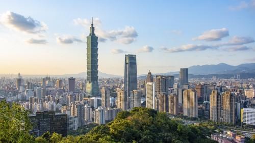 Taïwan : Panorama sur la ville de Taipei à Taïwan