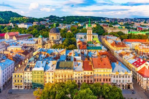 Ukraine : La vieille ville de Lviv en Ukraine