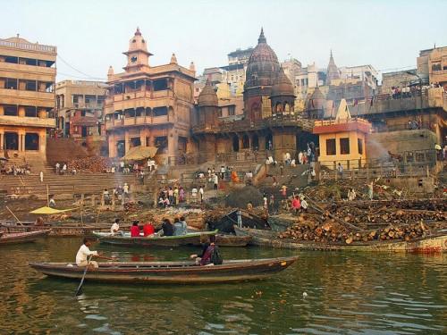 Varanasi (Bénarès) - Uttar Pradesh : India-5362 - Manikarnika Cremation Ghat