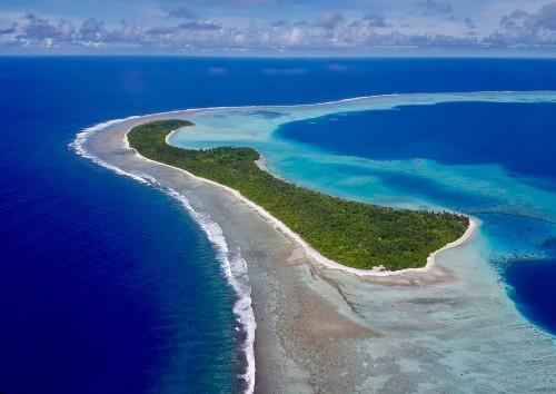 Wallis-et-Futuna : Vue aérienne du lagon de Wallis