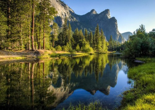 Yosemite (Parc national) : Breakfast with the Three Brothers