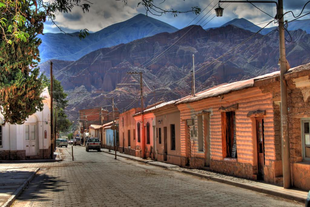 Tilcara : Calle de Tilcara, Jujuy, Argentina