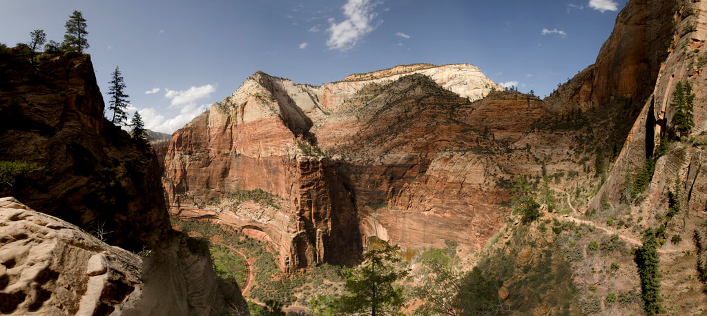 Utah : Panorama _ zion canyon